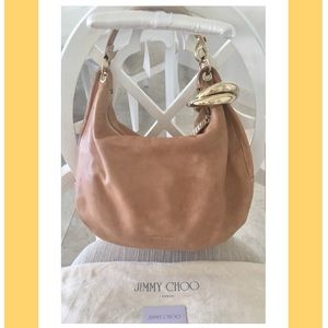 Authentic Jimmy Choo Solar Hobo Bag Beige